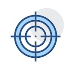 Icon of a target mark