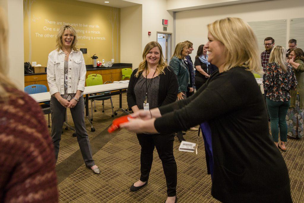 team activity at maximize your talent program